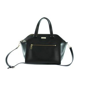 KATE SPADE Black Leather Handle Bag With Strap